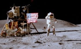 Of flags on the Moon