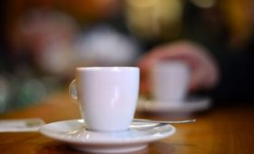 Making a cup of coffee with voice activation technology
