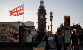 UK economy picks up in January but remains in low gear