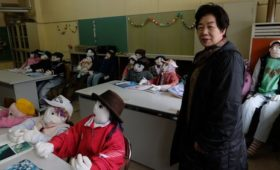 Scarecrows outnumber people in Japan village