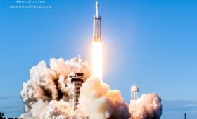 Falcon Heavy's Launch with Arabsat 6A in Spectacular Imagery