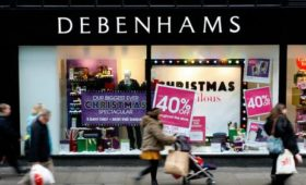 Debenhams to close 22 stores in UK in 2020