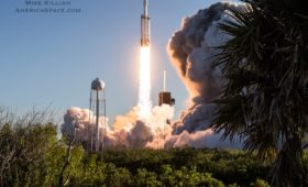 Falcon Heavy Goes Operational; Delivers Arabsat 6A, Successfully Lands All Three Boosters