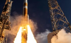 Delta IV Medium Launches into Retirement with 'Magellan' GPS III Satellite for USAF