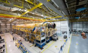 First Engine Installed on SLS as NASA Orders More Rockets, Conducts Pathfinder Ops in Florida
