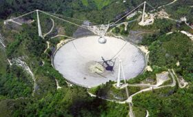 A Broken Cable Smashed Part of the Arecibo Observatory
