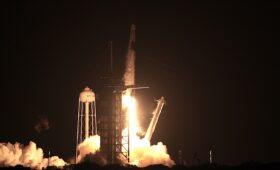 Astronauts fly with SpaceX in landmark launch for commercial spaceflight