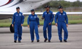Crew Dragon astronauts arrive in Florida for launch preparations
