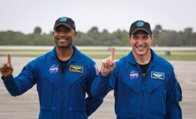 Photos: Crew-1 astronauts greeted at Kennedy Space Center