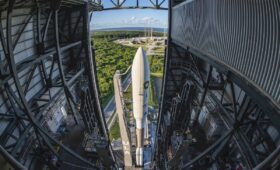 Photos: Atlas 5 rolls to launch pad with new solid rocket boosters