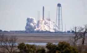 Antares rocket launches heavy cargo load to International Space Station