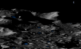 Exploring the Moon's Shadowed Regions Using Beamed Energy