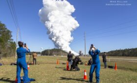 NASA Conducts Successful Second Test Fire of SLS Moon Rocket Core Stage