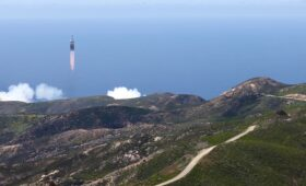 Spy satellite successfully launched from California military base
