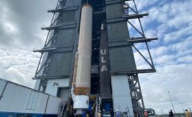 Atlas V Fully Stacked, Targets SBIRS GEO-5 Launch NET 17 May