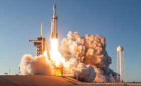 Falcon Heavy's first national security launch slips to October