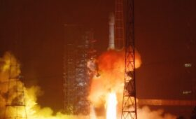 China launches satellite to link mission control with space station
