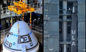 Starliner Stacked Atop Rocket for Launch of Boeing's 2nd Orbital Flight Test July 30