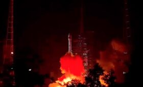 Keeping up busy launch schedule, China launches military telecom satellite