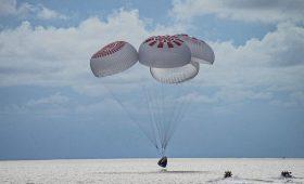 Four civilian space travelers back on Earth after landmark flight