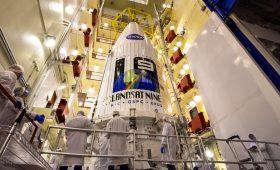 Landsat 9 lifted atop launcher to extend unbroken environmental data record