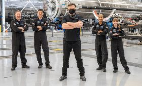 Inspiration4 crew chats with Elon Musk, works through first full day in space